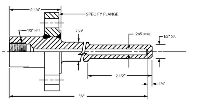 Pte sensor thermowells